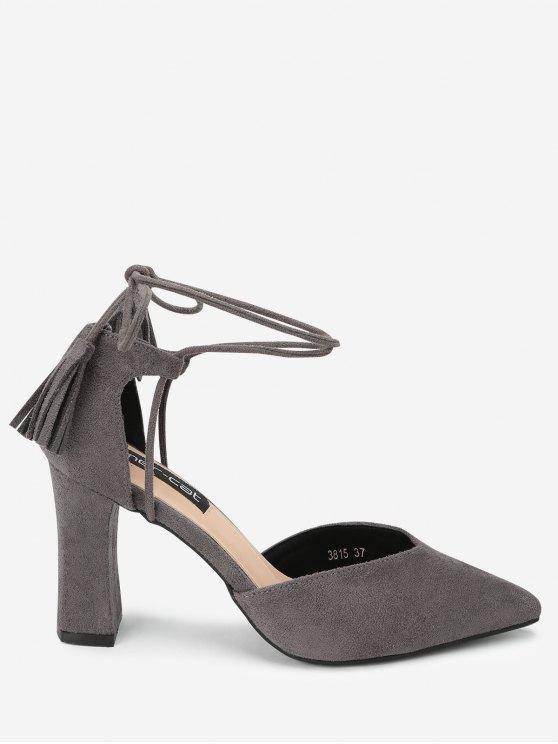 Sandali con cinturino alla caviglia a punta - Colore della colla di fagiolo 37