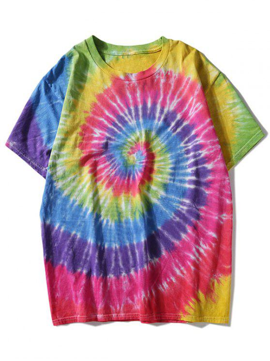 e6575d61f04 30% OFF  2019 Colorful Rainbow Tie Dyed T-shirt In COLORMIX