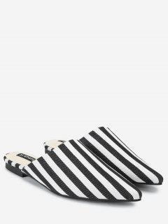 Striped Backless Loafers - Stripe 37