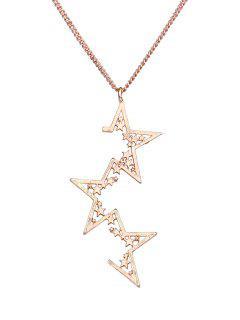 Collar Colgante De Aleación De Estrellas Geométrica Irregular - Dorado