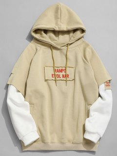 Rampo Evol Nar Graphic Hoodie - Light Khaki L
