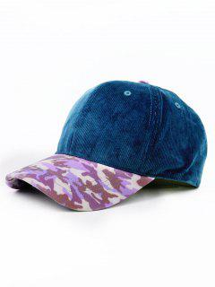 Leopard Pattern Adjustable Baseball Cap - Cerulean