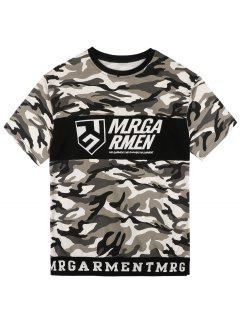 Graphic Camo Tee - Camouflage L