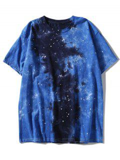Galaxy Tie Dyed Tee - Blue 2xl