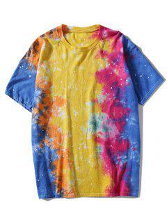 Camiseta Teñida Con Lazo De Manga Corta - L
