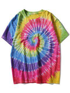 T-shirt Tie-Dye Arc-en-Ciel Coloré - L