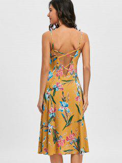 Cami Strap Floral Print Dress - Ginger 2xl