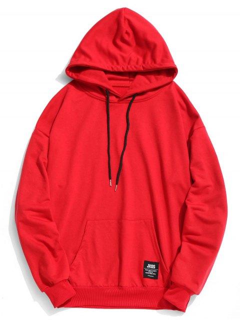 Label Pouch Pocket Hoodie - Rojo XL Mobile