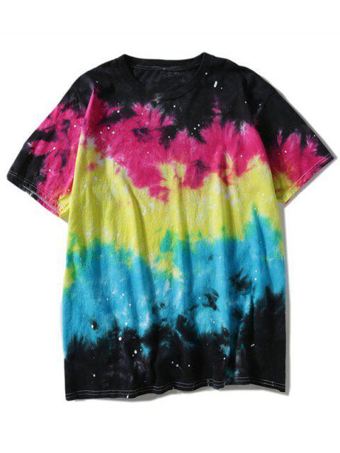 sale Colorful Tie Dyed T-shirt - COLORMIX 3XL Mobile