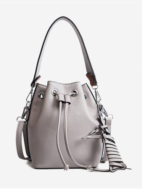 Braid PU sac seau en cuir - gris  Mobile