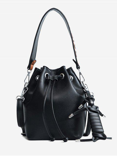 outfit Braid PU Leather Bucket Bag -   Mobile