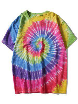 Buntes Regenbogen Riemchen Färbung T-Shirt