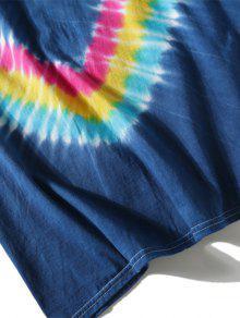 Dyed Azul Tie Tee 2xl Chevron aUqz6