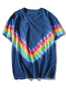 2xl Tee Chevron Dyed Azul Tie n0xCzC
