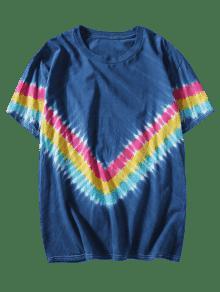 Chevron Azul Tee Tie 2xl Dyed 6qwxxtC5