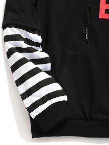 Stripe Negro Insert 3xl Letter Hoodie 4pa47Zq