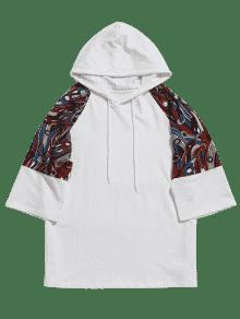 4xl Blanco Raglan Print Sleeve Abstract Hoodie wrqXpqC
