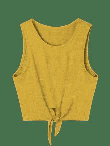 Camiseta De Anudada Tirantes Sin Mangas L Jengibre IIZqwr