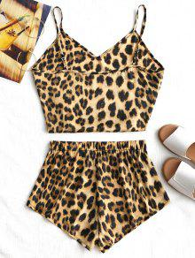 bc4e01cff4 27% OFF  2019 Leopard Camis And High Waisted Shorts In LEOPARD PRINT ...