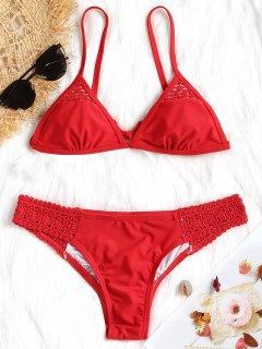 Häkel Panel Bikini Set - Rot S