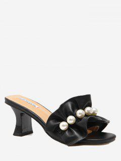 Ruffles Open Toe Sandals - Black 37