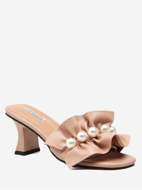 hot Ruffles Open Toe Sandals - APRICOT 37 Mobile