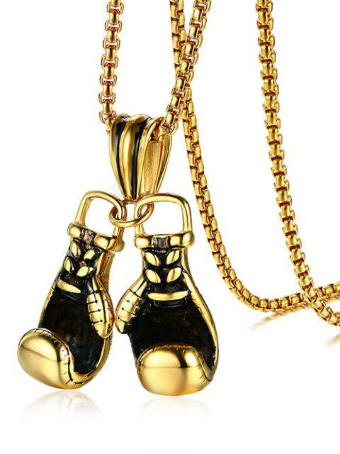 buy Stainless Steel Boxing Glove Necklace - GOLDEN  Mobile