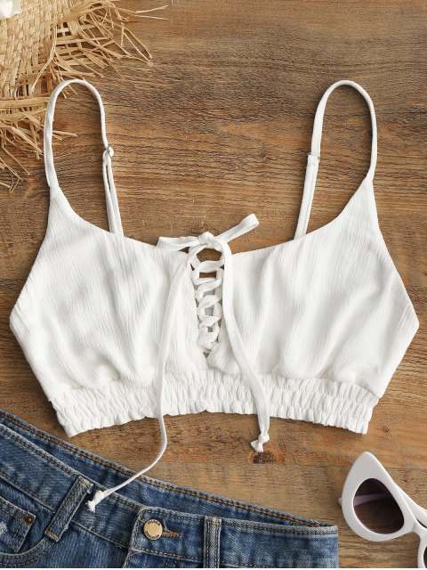 Haut Camisole et à Lacets - Blanc L Mobile