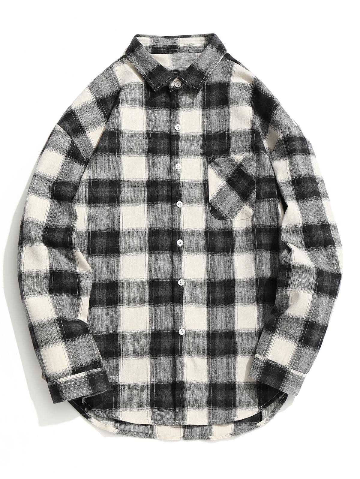 Checked Button Up Shirt фото