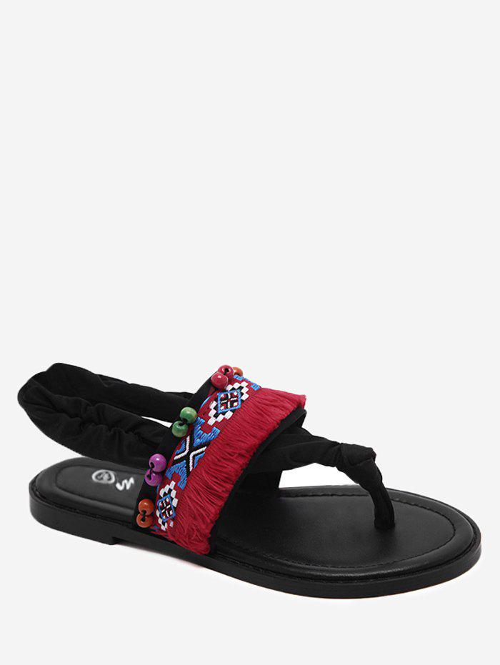 Tribal Embroidery Thong Sandals 256354501