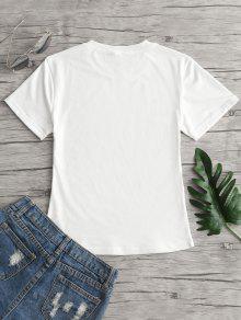 Camiseta Cuello De M Y Estampado Frutas Redondo Con Blanco A6axAnv