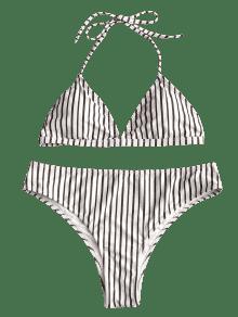 Alto Size De Bikini Alto De A Plus Rayas Talle 2xl Talle Blanco Conjunto De TqPwppz