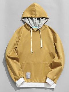 Label Pullover Hoodie - Khaki 3xl
