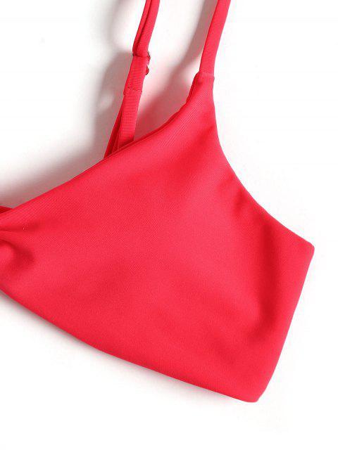 buy Cami Twist Front String Bikini Set - RED S Mobile
