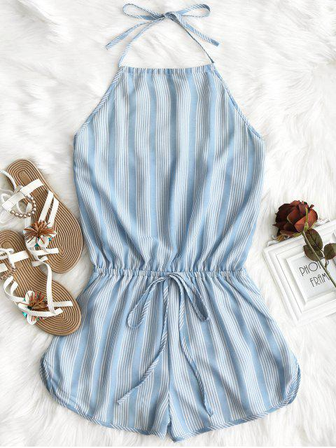 Halter Open Back Striped Romper - Raya S Mobile