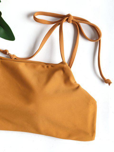 Conjunto de bikini de tanga con lazo anudado - Color Terroso L Mobile