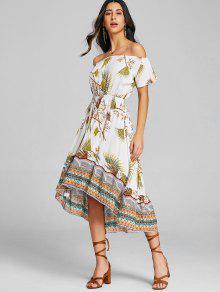 Asim Vestido Tribales Con M Amarillo 233;tricos Hombros A Pierna Media qXSw41XU