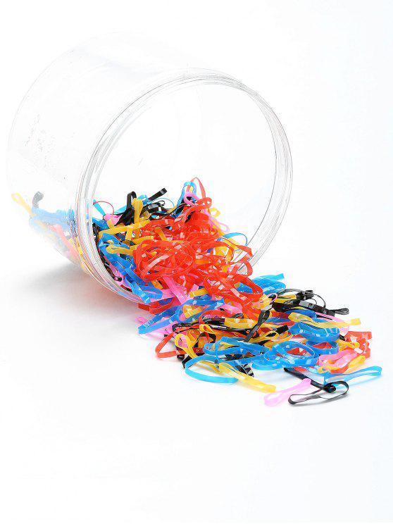 100 Stück elastische Haargummi Band Set - Muster B