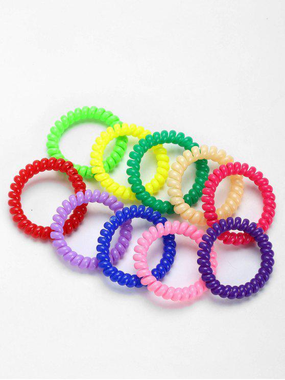 Screwy Plastic Bouncy Haarbänder Set - COLORMIX