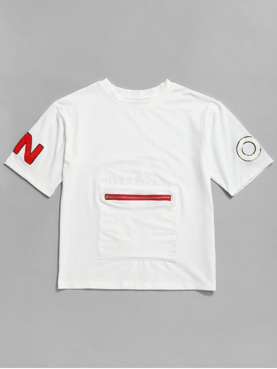 outfits Graphic Short Sleeve T Shirt - WHITE L