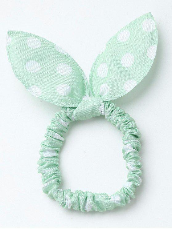 Bowknot Polka Dot Stertching Hair Band - Verde