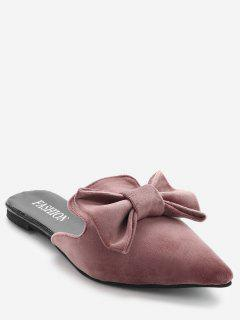 Pointy Toe Backless Loafers - Papaya 36