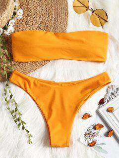 Padded Bandeau Bathing Suit - Ginger L