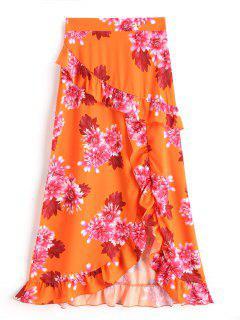 Falda Larga Con Estampado Floral - Floral L