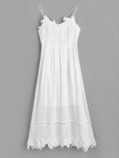 Backless Lacework Maxi Cami Dress - White Xl
