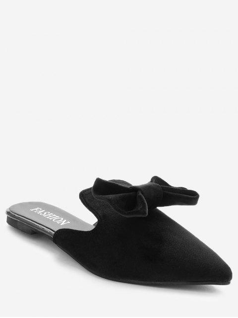 women's Pointy Toe Backless Loafers - BLACK 35 Mobile