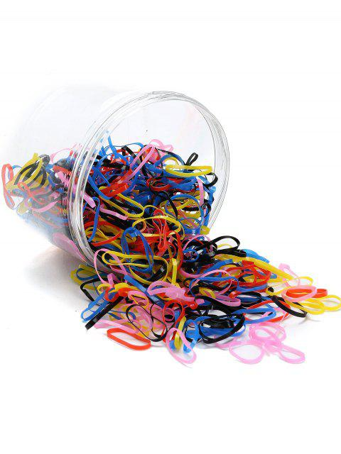 latest 500 Pieces Hair Holder Elastic Rubber Bands -   Mobile