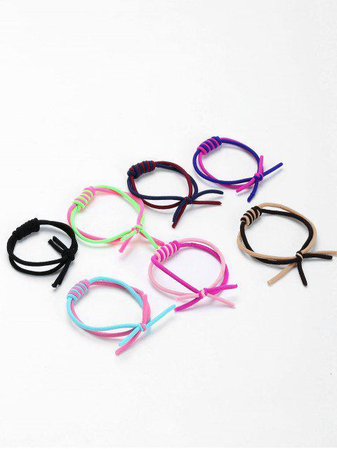 Juego de bandas para el pelo elásticas con dos dobleces - Colores Mezclados  Mobile