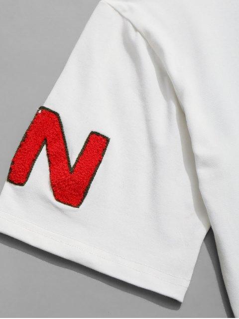 Camiseta estampada de manga corta - Blanco L Mobile