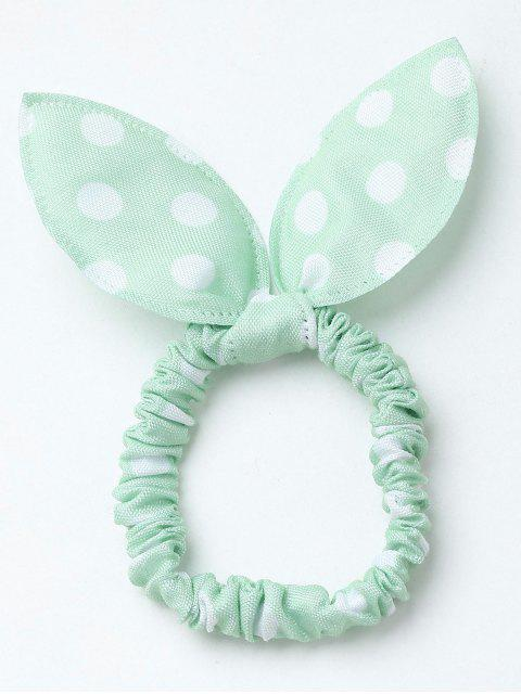 Bowknot Polka Dot Stertching Hair Band - GREEN  Mobile